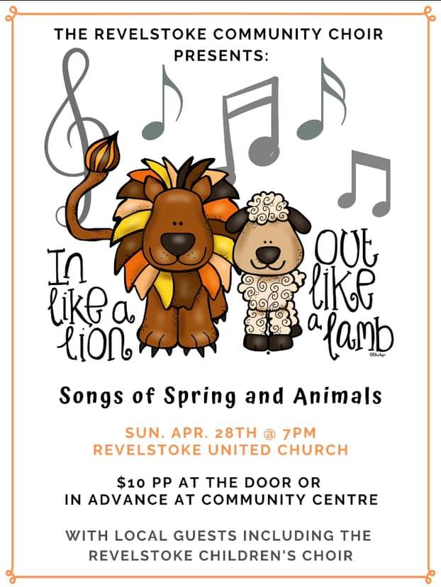 Songs of Spring and Animals @ Revelstoke Community Centre |  |  |