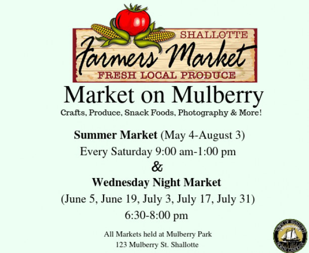 d931ec8819 The Shallotte Farmers Market begins its tenth year opening for the season on  Saturday, May 4th, 2019. The Shallotte, NC Farmers' Market is held every ...