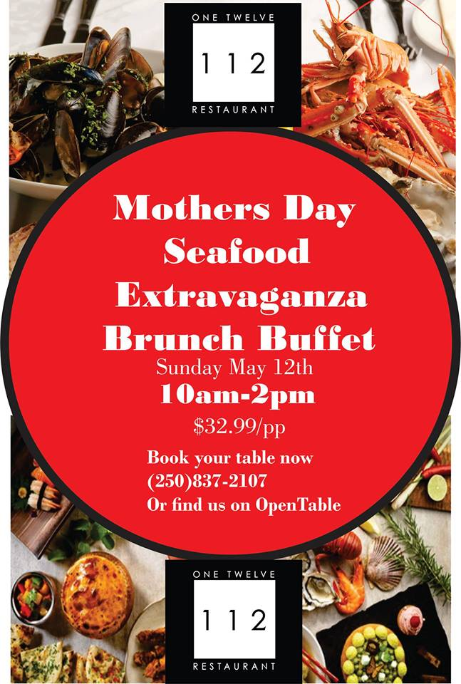 Mother's Day Seafood Extravaganza Brunch Buffet @ 112 Restaurant & Lounge |  |  |