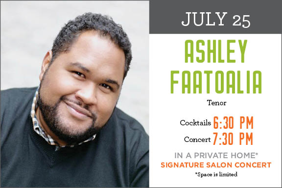Sun Valley Opera Signature Salon Concert starring Ashley Faatoalia @ Private Home