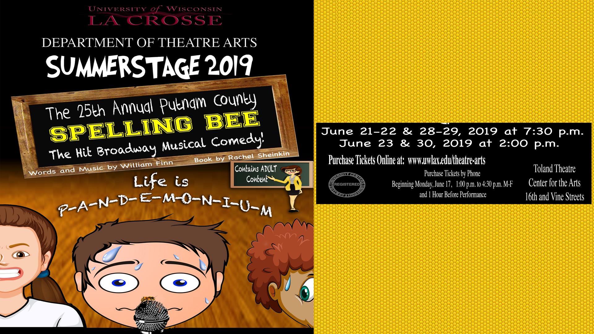 The 25th Annual Putnam County Spelling Bee - Explore La Crosse
