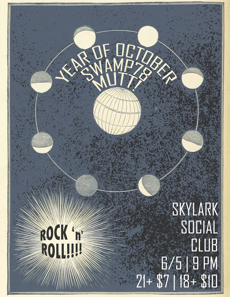 Year of October//Swamp 78//The Donner Deads// @ Skylark Social Club