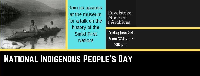 National Indigenous People's Day @ Revelstoke Museum & Archives |  |  |