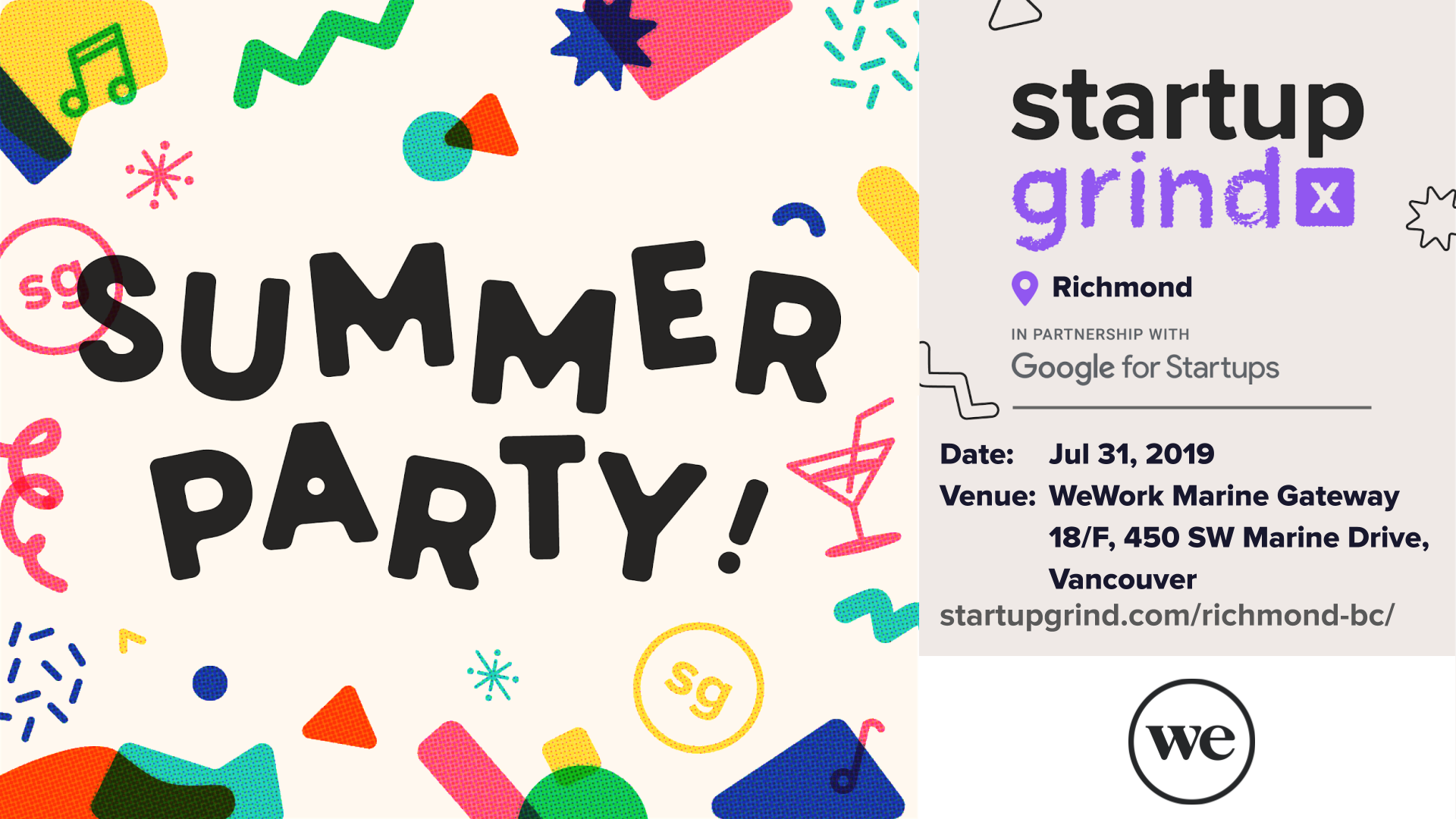 Startup Grind Summer Party + Door Prize - 2 tickets to Startup Grind 2020  Global Conference in Silicon Valley