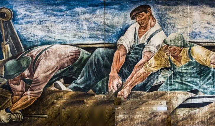 Hauling in the Nets: Zoltan Sepeshy's WPA Mural on Beaver Island @ Beaver Island Community Center
