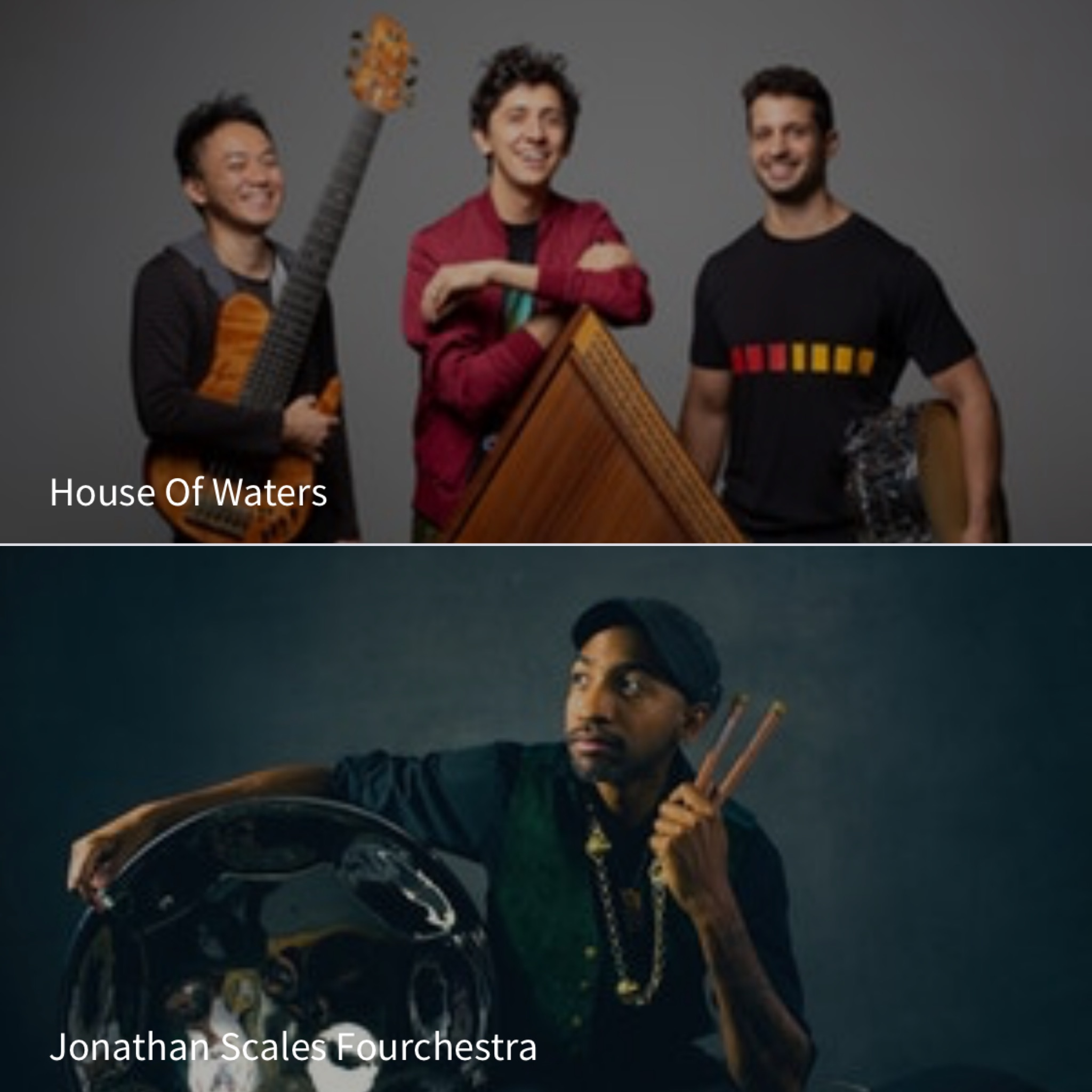House Of Waters  and  Jonathan Scales Fourchestra @ The Evening Muse