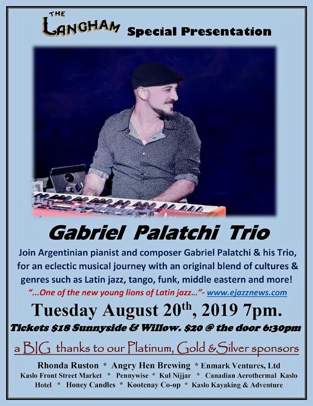 Special Langham Concert - GABRIEL PALATCHI TRIO - Live in the Langham Theatre! @ Langham Cultural Centre