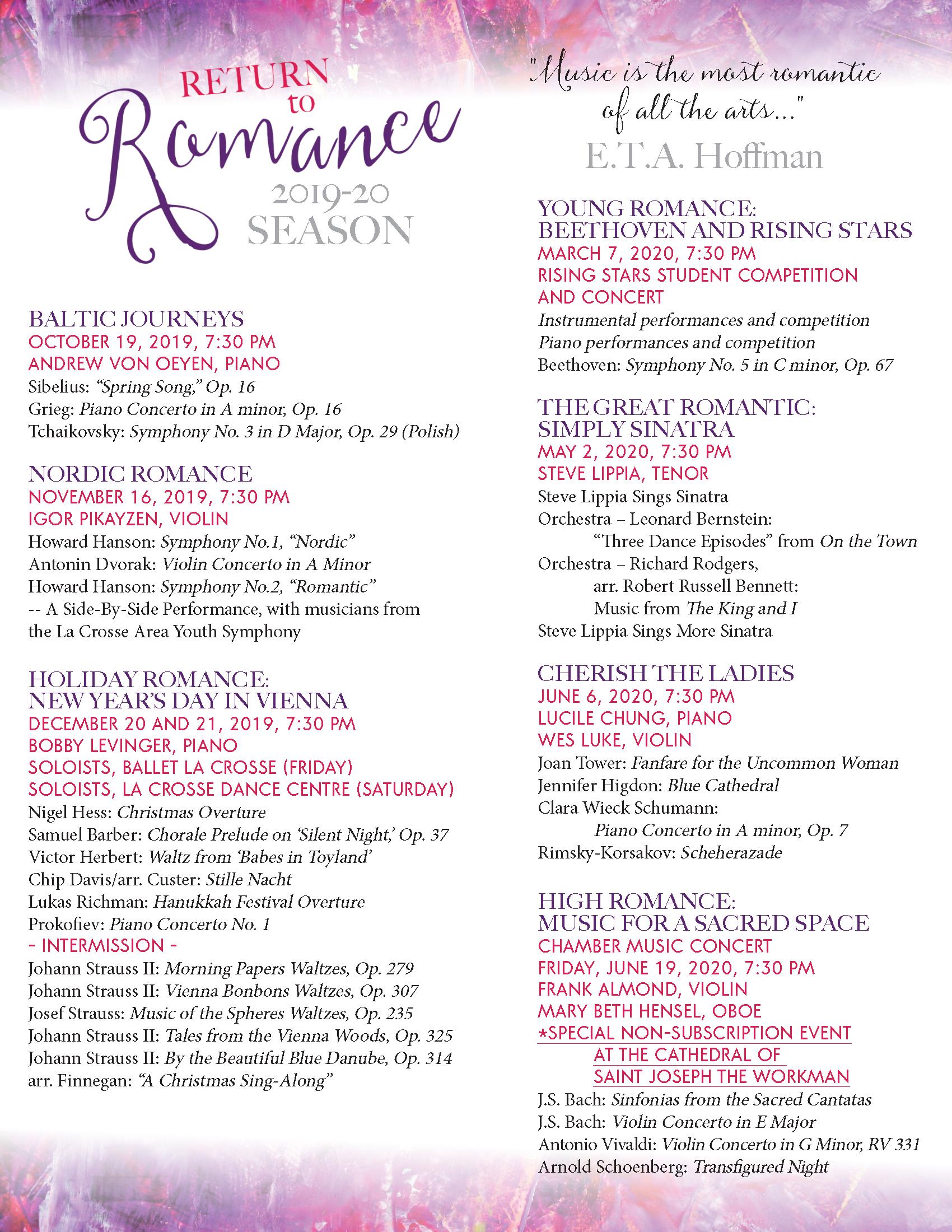 La Crosse Symphony Orchestra's 'Holiday Romance: New Year's