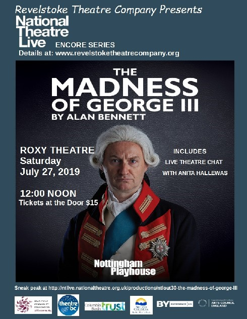 NT Live: The Madness Of King George! @ Roxy Theatre |  |  |
