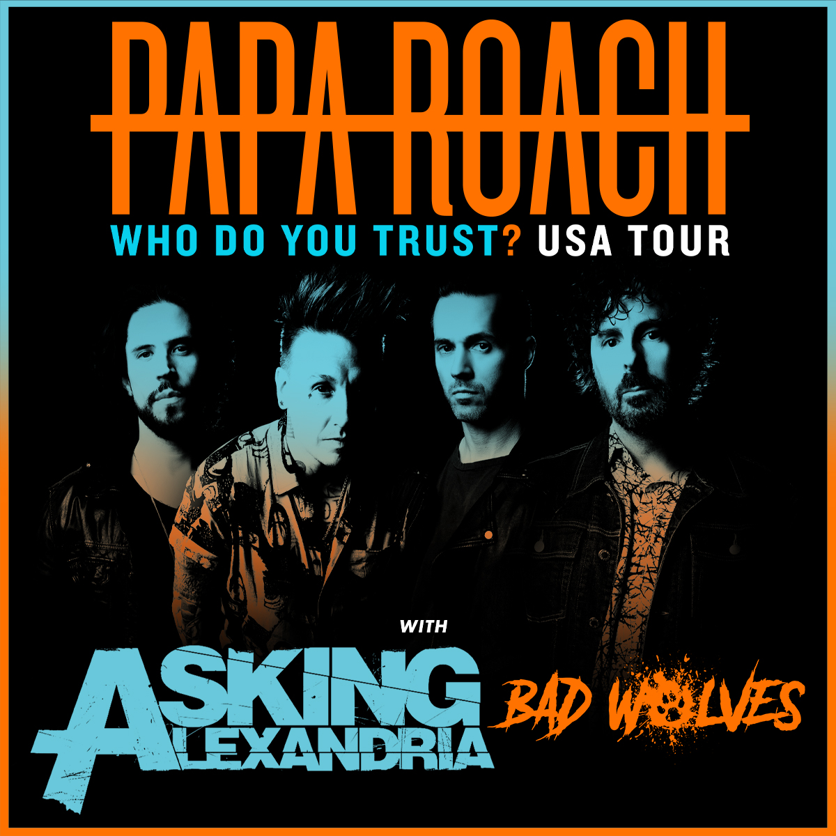 Papa Roach  Who Do You Trust? Tour with special guests Asking Alexandria & Bad Wolves @ Charlotte Metro Credit Union Amphitheatre