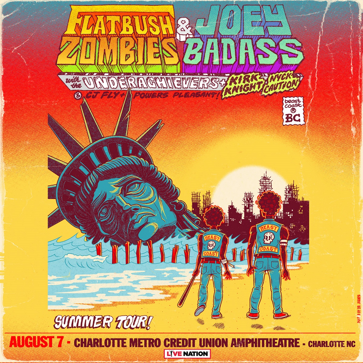 Beast Coast: Escape from New York Tour with Joey Bada$$ & Flatbush Zombies with The Underachievers, Kirk Knight, Nyck Caution, Powers Pleasant and CJ Fly @ Charlotte Metro Credit Union Amphitheatre