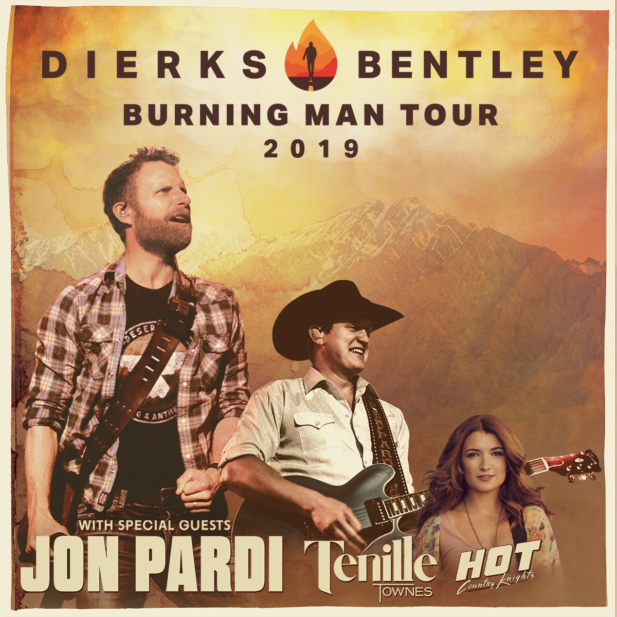Dierks Bentley: Burning Man Tour with Jon Pardi, Tenille Townes, and Hot Country Knights @ PNC Music Pavillion
