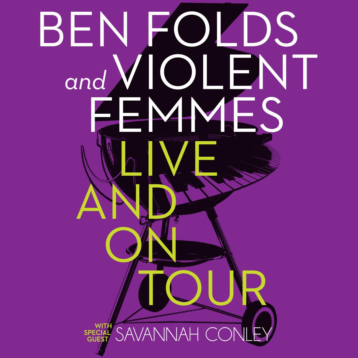 Ben Folds + Violent Femmes with Savannah Conley @ Charlotte Metro Credit Union Amphitheatre