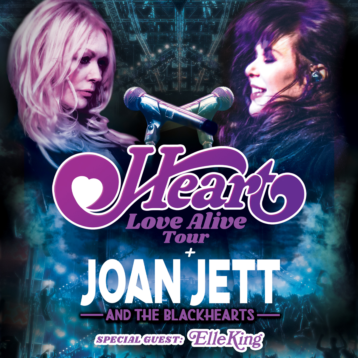 Heart - Love Alive Tour with special guests Joan Jett & the Blackhearts, Elle King @ PNC Music Pavillion