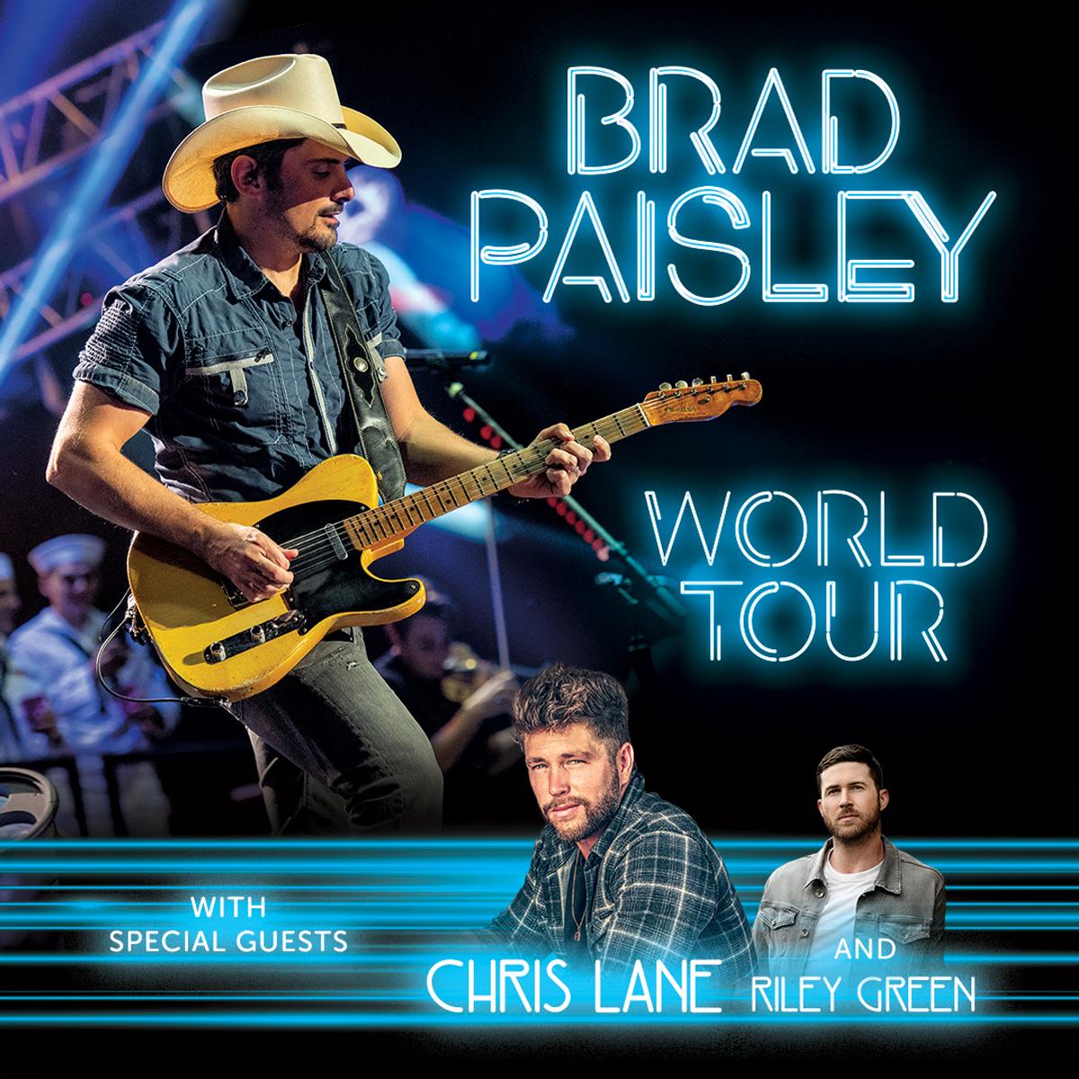 Brad Paisley with Chris Lane & Riley Green @ PNC Music Pavillion