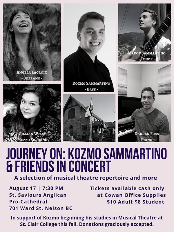 Journey On: Kozmo Sammartino and Friends in Concert @ St. Saviours Anglican Pro-Cathedral