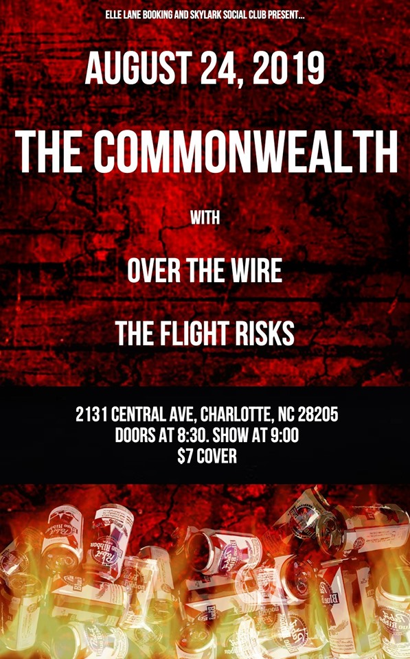 The Commonwealth, with Over the Wire, and The Flight Risks @ Skylark Social Club