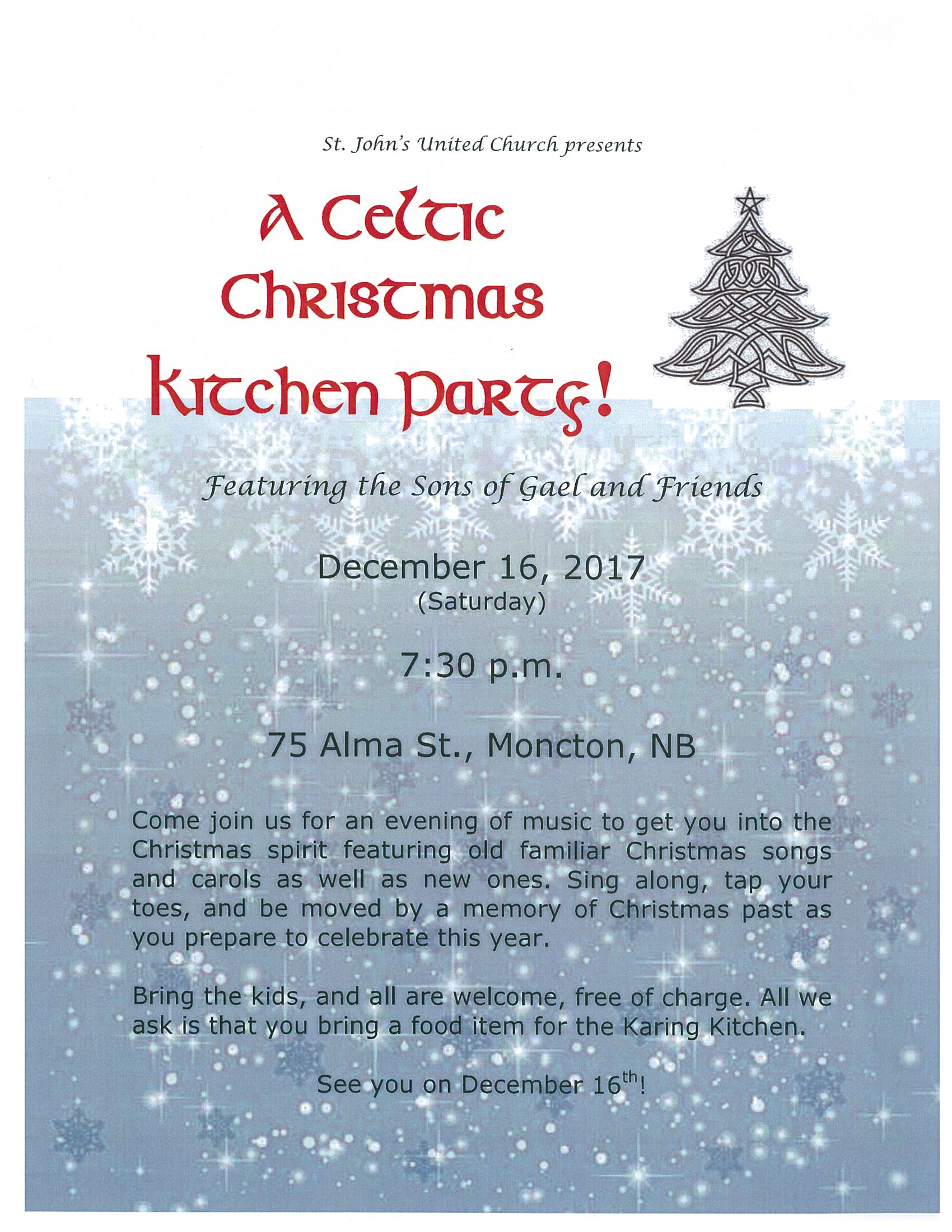 A Celtic Christmas Kitchen Party!