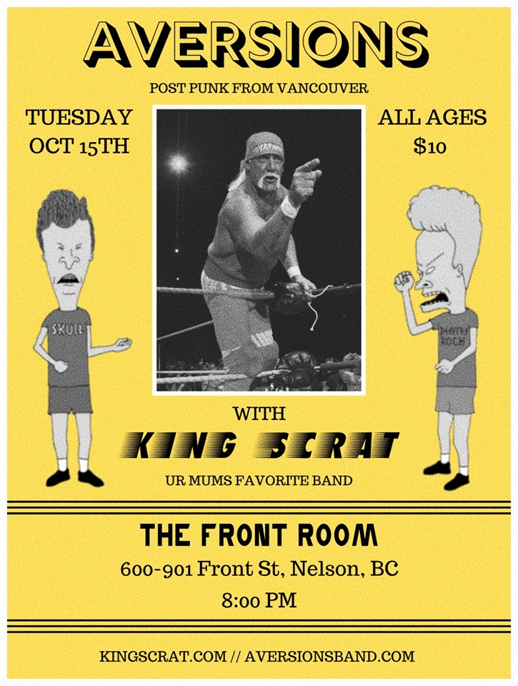 Aversions & KING SCRAT LIVE at The Front Room (ALL AGES) @ The Front Room