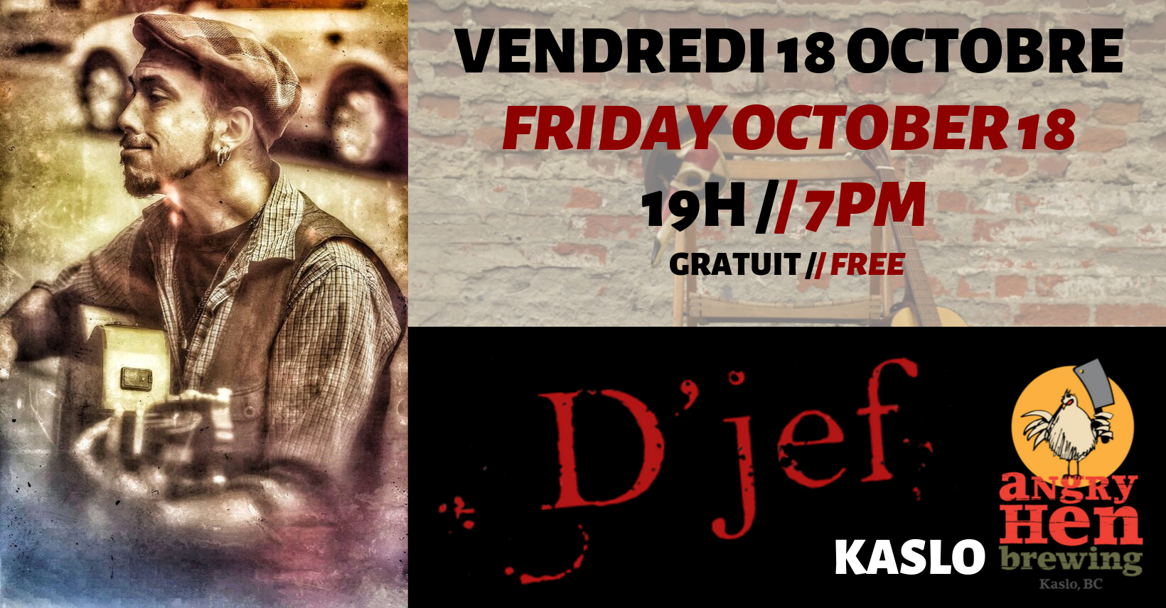D'Jef - Concert Flamenco Blues // French Music Show @ Angry Hen Brewing Co.