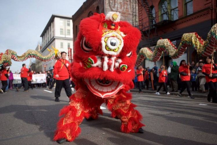 portland chinatowns lunar new year dragon dance in nw pdx chinese new year 1931 - Chinese New Year 1979