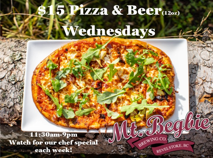 $15 Pizza & Beer Wednesdays @ Mt. Begbie Brewing @ Mt. Begbie Brewing Co.