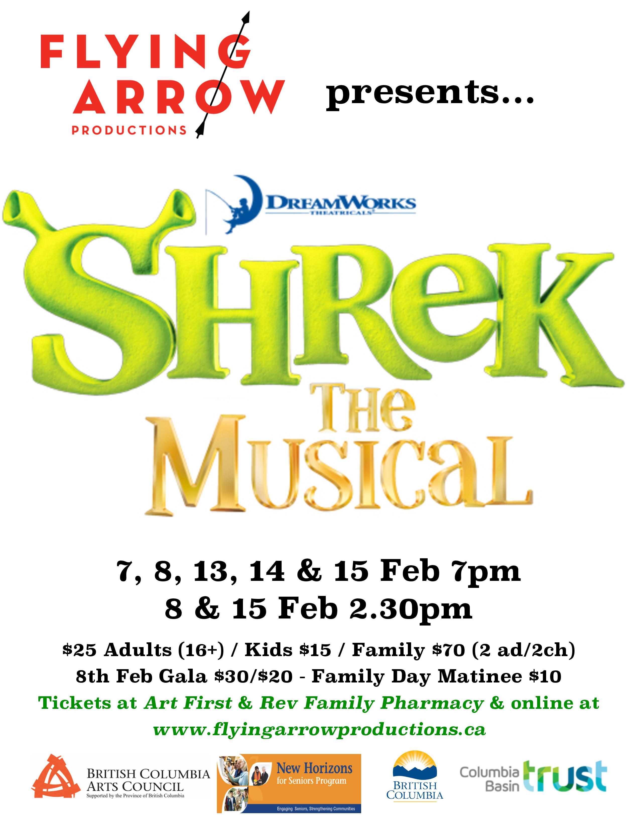 Shrek the Musical @ Revelstoke Performing Arts Centre |  |  |