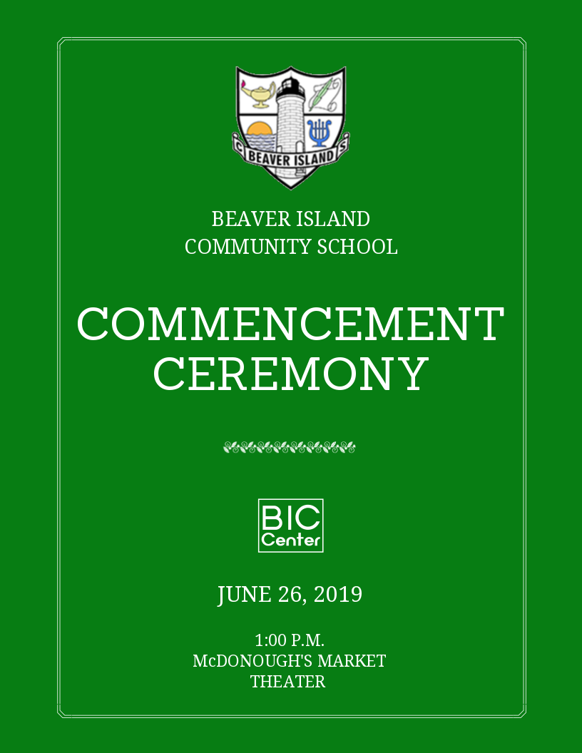 BICS Commencement Ceremony @ Beaver Island Community Center