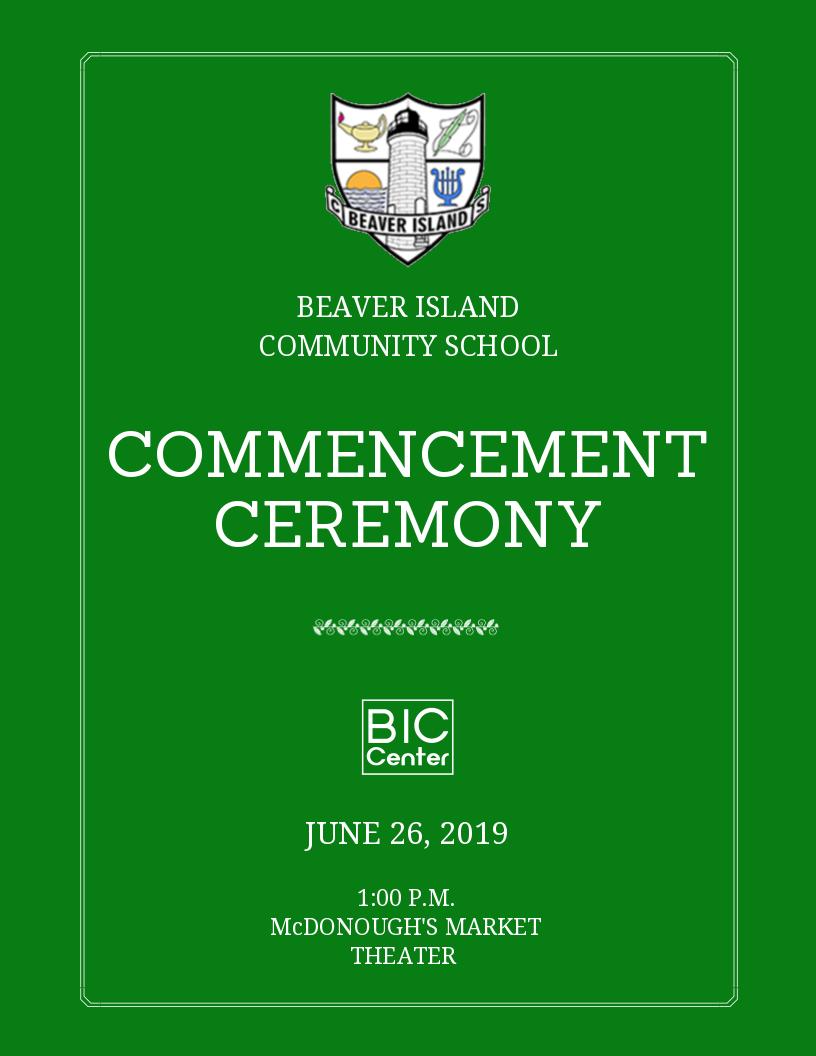 BICS Commencement Ceremony @ Beaver Island Community Center
