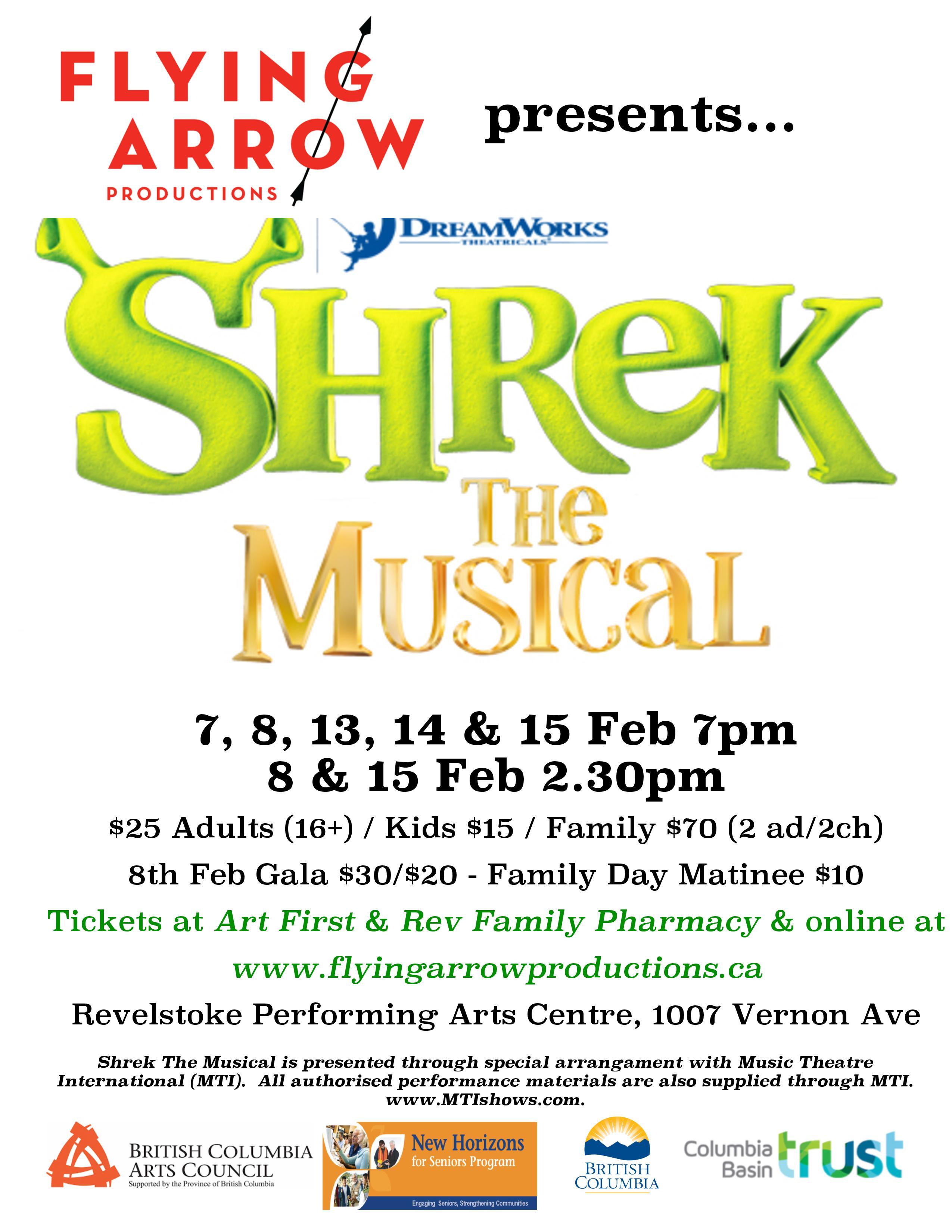 Shrek the Musical Matinee @ Revelstoke Performing Arts Centre |  |  |