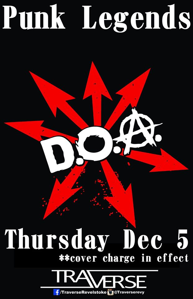 Punk Legends DOA Live at Traverse @ Traverse