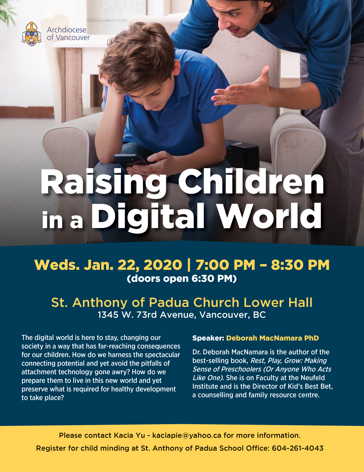 Raising Children in a Digital World @ St. Anthony of Padua Church Lower Hall