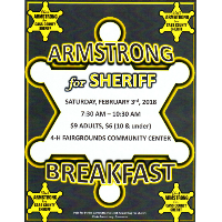 Armstrong for Sheriff Breakfast Fundraiser @ Cass County 4-H Fairgrounds