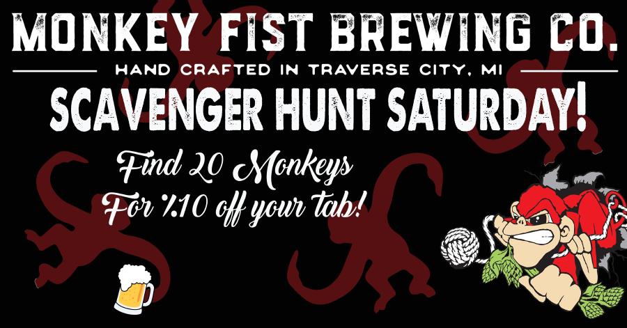 Scavenger Hunt Saturday @ Monkey Fist Brewing Co.