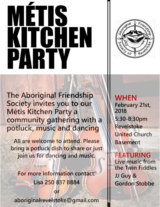 Métis Kitchen Party @ Revelstoke United Church