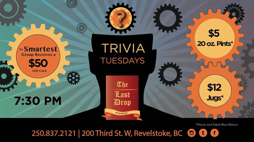Trivia Tuesday @ The Last Drop |  |  |