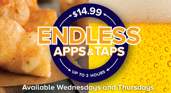 Endless Apps and Taps @ Shenanigans Entertainment Center and Sports Bar