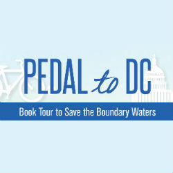 Pedal to DC: Book Tour to Save the Boundary Waters @ Fulton County Public Library - Rochester Branch