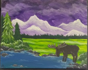 'Country Mountains' Canvas Painting Class @ Creative Canvas and Board