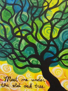 'Stained Glass Tree' Canvas Painting Class @ Creative Canvas and Board