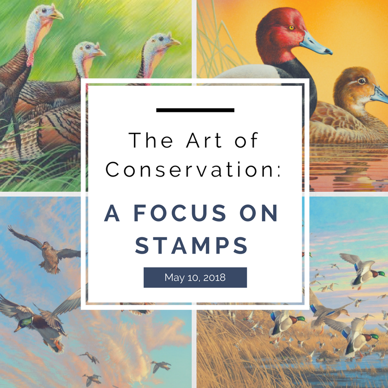 Watershed Gallery Exhibit: The Art of Conservation: A Focus on Stamps @ National Eagle Center