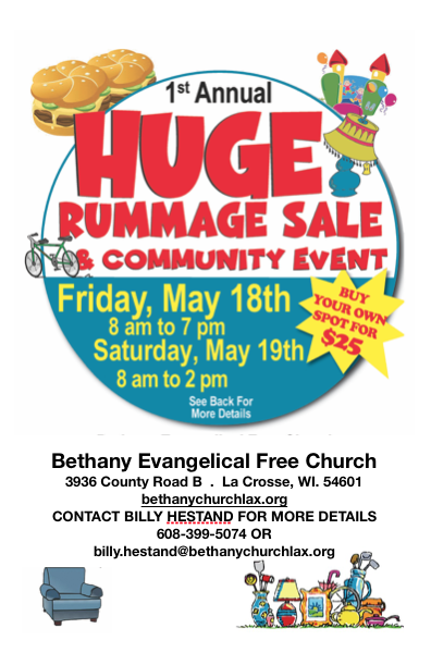 Huge Rummage Sale and Community Event | L I N K  Magazine