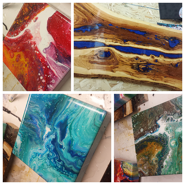 Brothers, Epoxy, and Mixed Media @ Fannin Counseling & Art Therapy