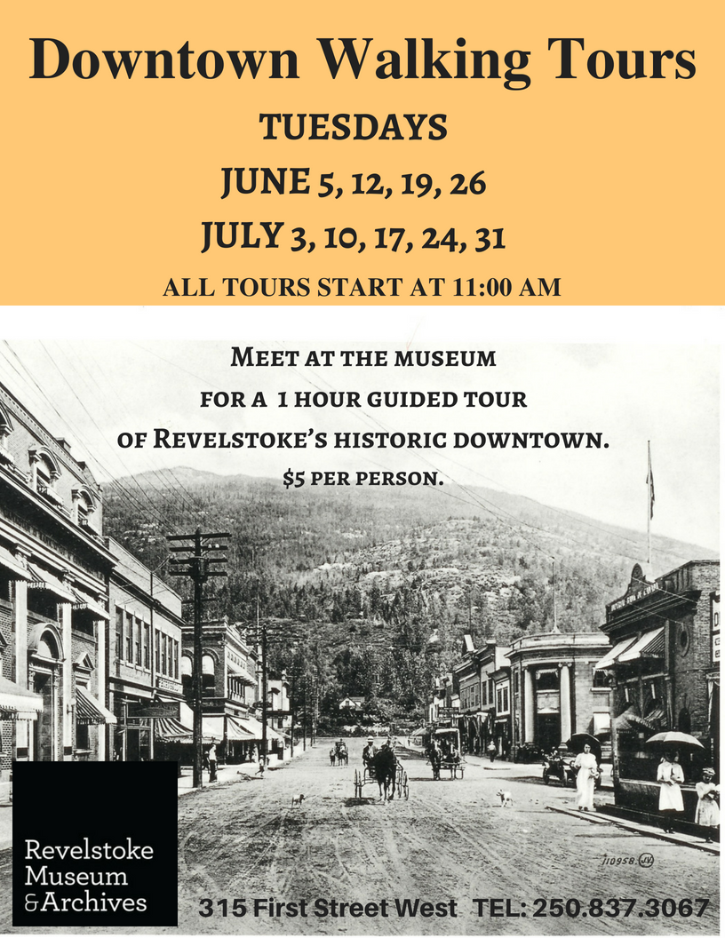 Downtown Heritage Walking Tours @ Revelstoke Museum & Archives |  |  |