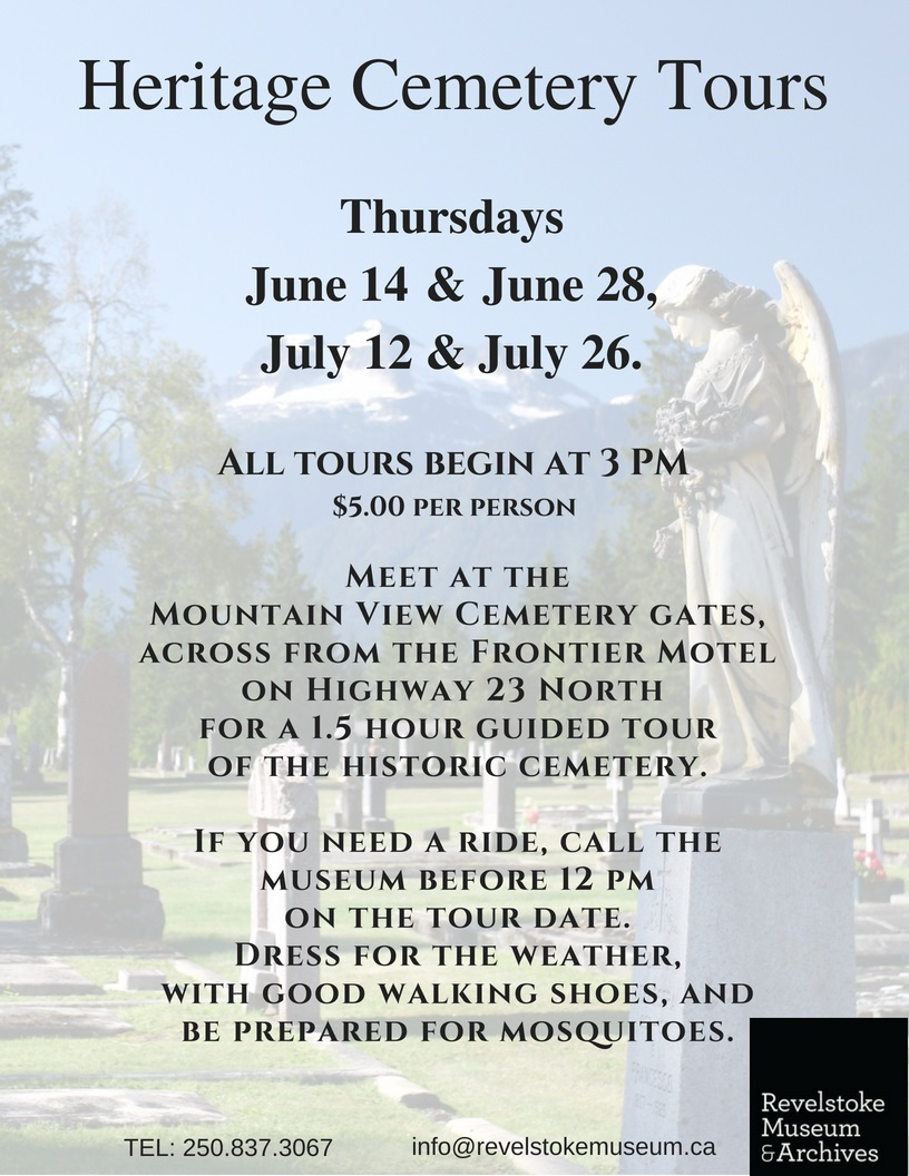 Heritage Cemetery Tours @ Revelstoke Museum & Archives |  |  |
