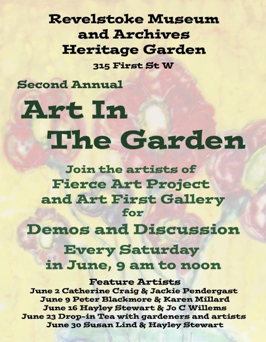 Art in the Garden @ Revelstoke Museum & Archives |  |  |