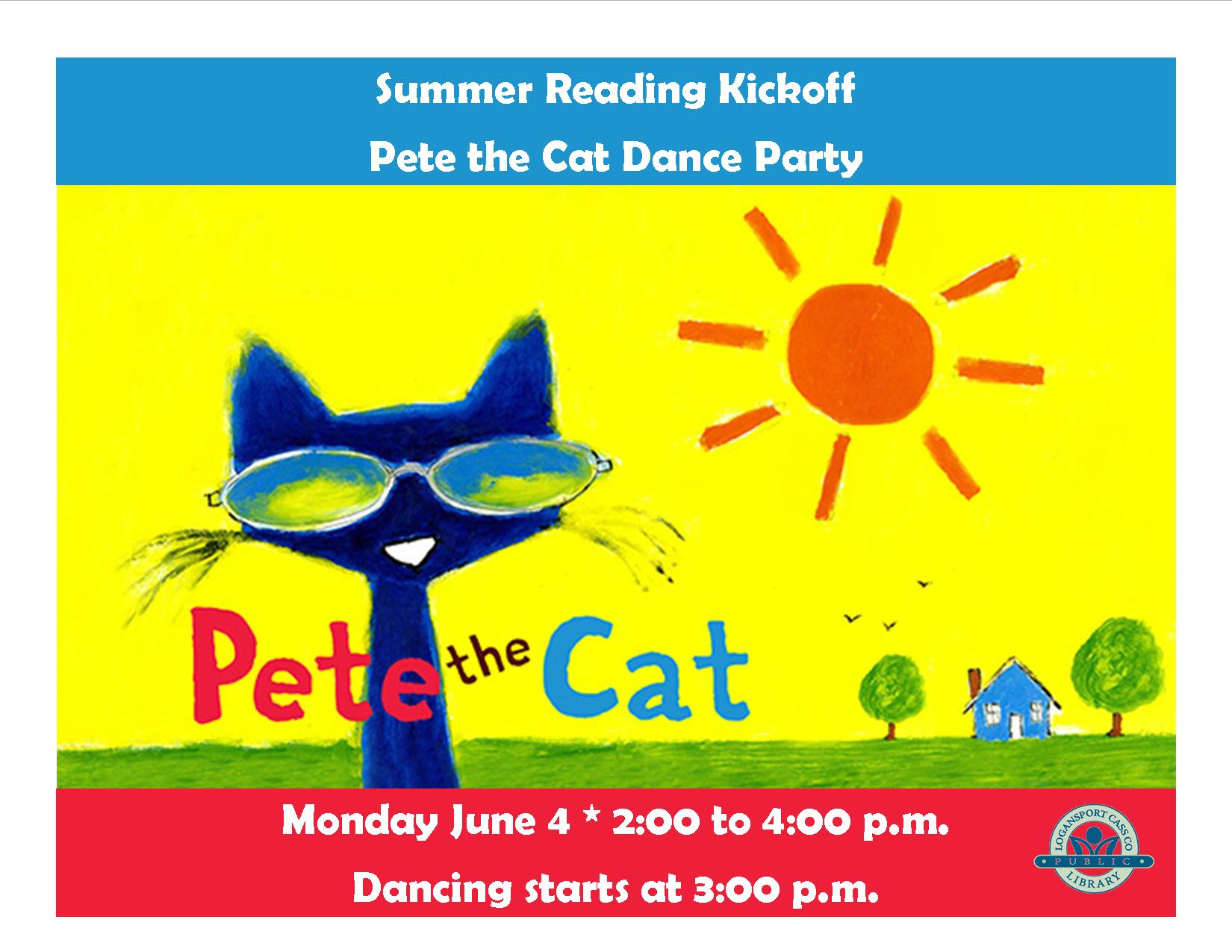 Pete the Cat Dance Party @ Logansport-Cass County Public Library